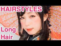 "2 Kawaii HAIRSTYLES ""Long Hair"" for Kimono by Japanese model Yui Minakata   皆方由衣の着物に合うロングヘアアレンジ - YouTube"