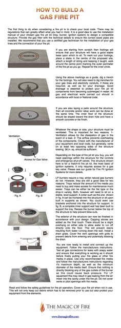 How To Build A Gas Fire Pit - DIY gas fire pit, tips on building the gas fire pit of your dreams!