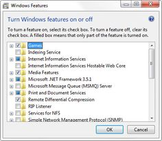 Windows 7 Tip of the Week 			Remove the Windows Features You Don't Need 			 			Tip date: September 4, 2010 			 			Windows 7 brings back a feature from older Windows versions: The ability to add and re...