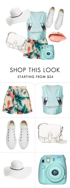 """""""Light Colour Summer"""" by fiona137 ❤ liked on Polyvore featuring Topshop, Converse, MICHAEL Michael Kors, David & Young, Fuji, Urban Decay, Summer, cute and pastel"""