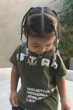 Stormi and Travis Scott Wore Matching Braids and Daddys Hair Has Never Looked So Cute Cute Hairstyles For Kids, Little Girl Hairstyles, Halloween Hairstyles, School Hairstyles, Prom Hairstyles, Travis Scott Braids, Medium Hair Styles, Short Hair Styles, Short Hair For Kids