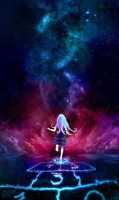 anime, galaxy, and wallpaper image Anime Galaxy, Galaxy Art, Anime Pokemon, Kawaii Anime, Art Galaxie, Manga Art, Anime Art, Anime Kunst, Wow Art