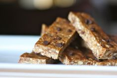 "Against All Grains :: dark chocolate almond butter ""granola"" bars (made by Abby 06.02.14)"