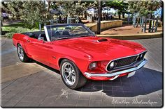 1969 Red Mustang Convertible