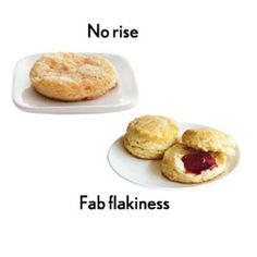 You twist the biscuit cutter to get a sharp, clean cut THE RESULT: Biscuits lacking volume and flakiness.