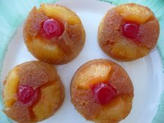 Pineapple Upside-down Cupcakes - these would be perfect for a potluck!