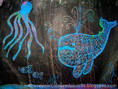 Use Your Coloured Pencils: Scratch Art Whales