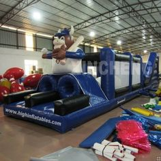 inflatable 4 in 1 bugs bunny obstacle course inflatable obstacle