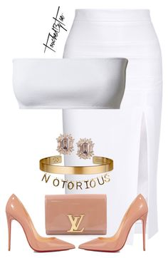 """""""Untitled #535"""" by iamtaecarter ❤ liked on Polyvore featuring Cushnie Et Ochs, Louis Vuitton, Christian Louboutin and Le Gramme"""