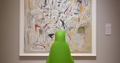 """#Bentonville's favorite bird is taking a field trip to Crystal Bridges Museum of American Art. If you recognize the artwork that """"Green Penguin"""" is photographed alongside, EMAIL the name of the work to spotted@21cHotels.com. Daily winners will snag tickets to Crystal Bridges events and exhibitions, plus a Grand Prize overnight #Art Exploration Package at 21c Bentonville is up for grabs. Happy spotting!"""