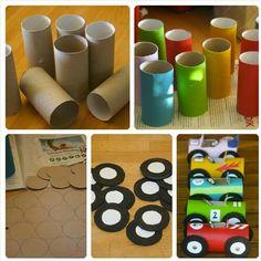 Reciclaje y diversión Juegos niños Reciclaje rollos papel baño.
