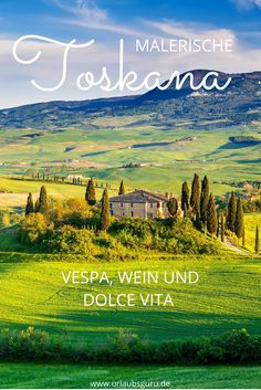 Die Toskana ist die Heimat des Chianti und der weltberühmten Vespa Roller. Folgt mir auf meiner Reise zu den alten Etruskern und lernt die malerischen Landschaften dieser bezaubernden Region kennen!