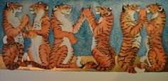 """""""Six bright tigers playing pat-a-cake,"""" by Jackie Morris"""