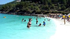 BEST HD CAPTURE OF SALIARA( MARBLE) BEACH, THASOS,GREECE.