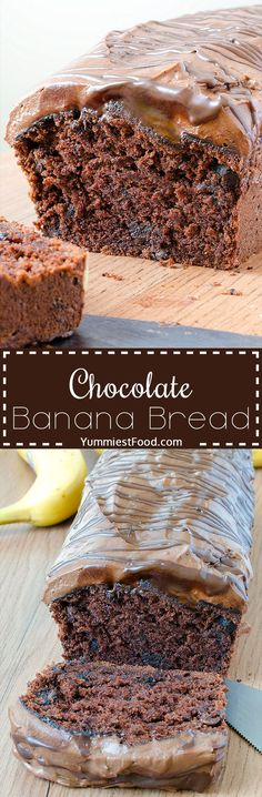 Chocolate Banana Bread - perfect way to start your day with this healthy dessert! So soft, light and delicious, you must try to make my chocolate banana bread!