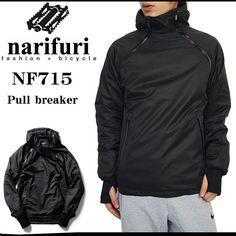 narifuriナリフリメンズプルブレーカーマウンテンパーカーウインドブレーカーナイロンジャケットレインウェア撥水メッシュ裏地国内正規総代理店アイテムmodel-NF715PullbreakerBK送料無料shopジェイピア2016SS新作