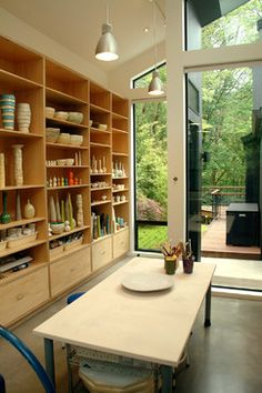van Adelsberg Grant Art Studio - modern - home office - portland - by Giulietti Schouten Architects