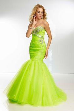Super Beaded Mermaid Floor Length Prom Dresses Ruffled Bodice