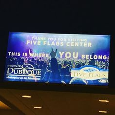 New backlit LED sign in the #FiveFlagsCenter. What do you think #Dubuque? #Thisiswhereyoubelong