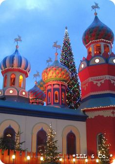 Russian Christmas in Tivoli Amusement park in the heart of Copenhagen the Capital of Denmark