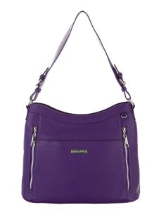 Grace Adele Handbag ~ Giselle Grape $80 ~ Zippered hobo with detachable shoulder strap.  Great bag for concealed weapons.  www.styles2love.us