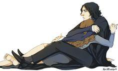 Severus Snape and Hermione Granger. Mine by Griffinhart.deviantart.com on @deviantART
