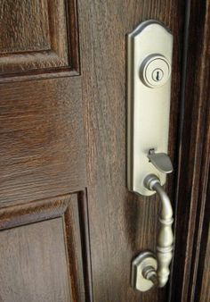 Learn How To Stain An Embossed Fiberglass Door To Look