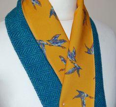 HARRIS TWEED & Vintage Scarves scarf women s gift accessories horse duck vintage