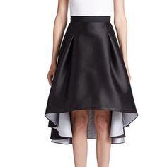 51029edadde56c Sachin   Babi Noir Valeria Hi-Lo Satin Skirt Black Pleated Midi Skirt