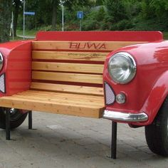 Nice couch. Recycled car - from the FB page of Recycled art Foundation