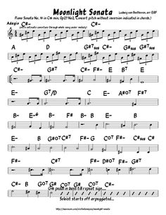 Moonlight Sonata (Jazz Lead Sheet)