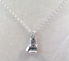 Sterling Silver Boxing Glove Charm on a by GoldChestJewelry, $39.95