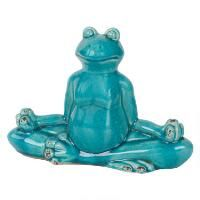 Sukhasana Frog Statue Teal Frog Statues, Urban Barn, Teal, Animals, Home Decor, Animales, Decoration Home, Animaux, Room Decor