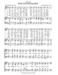NEW! Hymn for Christmas Day Christmas Carol