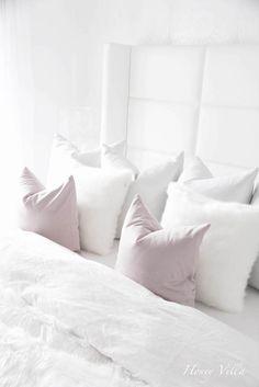 Master bedroom. White interior