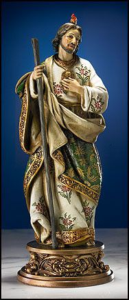 Saint Jude Ornate Brocade Statue