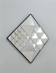 "// VERNER PANTON  ""Diamond Pyramid"" mirror, model no. 570039, ca. 1974"