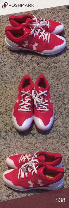 Under Armor Charged Baseball Cleats Sz Youth 6 1/2 Under Armour Charged Baseball Cleats size 6 1/2. Great condition. Authentic. Still looks brand new. Youth size 6 1/2. Under Armour Shoes