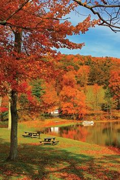 Best CT foliage road trips. Autumn colors are ablaze at Lake Waramaug in Kent.