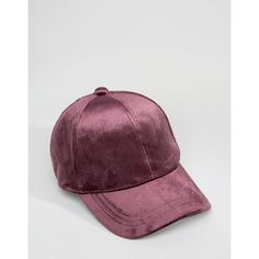 ASOS Velvet Baseball Cap (€5,65) ❤ liked on Polyvore featuring accessories, hats, baseball hats, crown baseball cap, asos, crown hat and strap hats