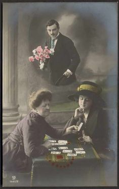 Vintage Tarot Reading Postcard