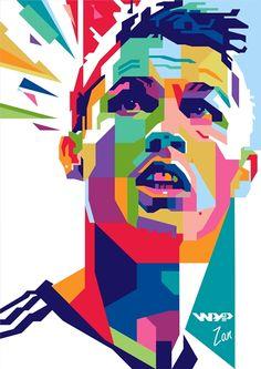 Pop Art Portraits, Creative Portraits, Portrait Art, Cristiano Ronaldo Manchester, Cristiano Ronaldo Cr7, Critiano Ronaldo, Soccer Art, Football Art, Pop Art Dibujos