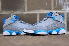 "Jordan 6 Rings ""Powder Blue"" I Love My Shoes, Me Too Shoes, All Jordans, Casual Sneakers, Casual Shoes, Best Basketball Shoes, Sneaker Heels, Sneaker Magazine, Shoe Game"