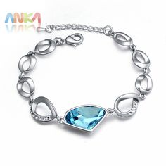 2017 Time-limited Hot Sale Bracelets For Women Rainbow  Water Drop Crystal Bracelet Main Stone Crystals from Austrian #108685