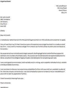 Lovely Legal Cover Letter