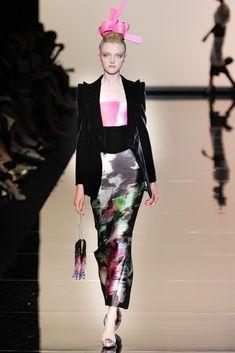 Armani Privé Fall 2011 Couture Fashion Show - Vlada Roslyakova
