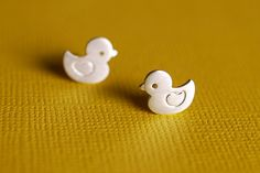Sweet Ducky Earrings by marymaryhandmade on Etsy, $45.00