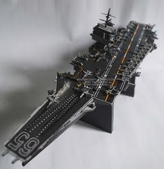 A 1:800-scaled papercraft of the USS Enterprise (CVN-65), the world's first nuclear-powered aircraft carrier. It was deactivated on December 1, 2012.