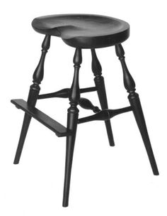Amish Kitchen Saddle Stool