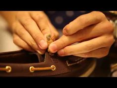 How to Tie Sperrys. Most Sperrys have leather laces and are notoriously difficult to tie tightly. You may find that a normal shoelace knot is not enough to keep the leather shoelaces from coming loose. While the most common knot to use on...